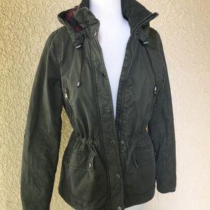 L.O.G.G. Utility Parka Jacket Olive Green Size 6